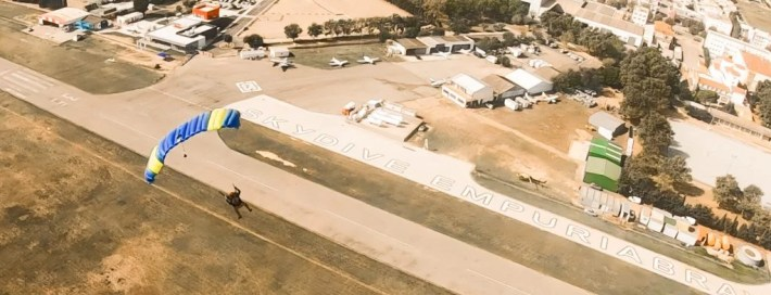 canopy pilot and swooper at Skydive Empuriabrava
