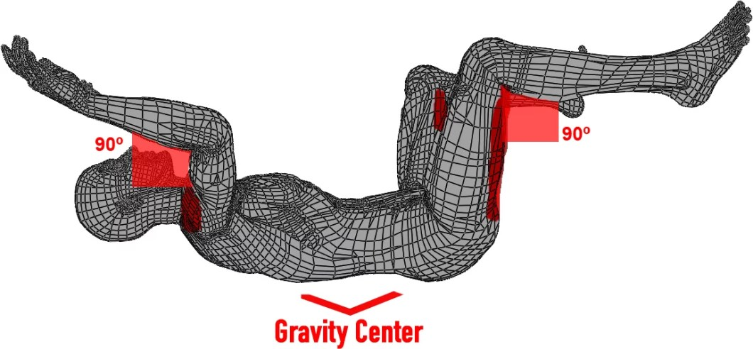 back flying, skydiving position, 3d position, wind tunnel flying