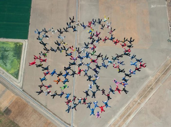 big way skydiving formation