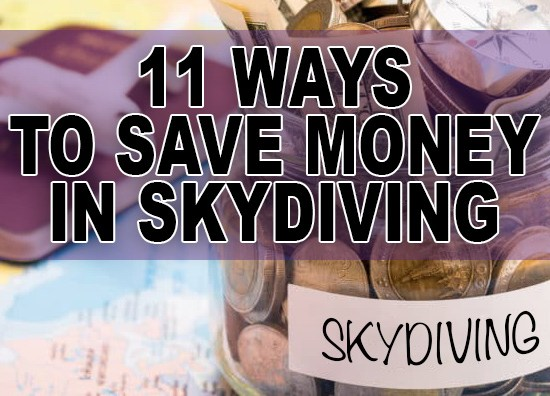 How to save money in skydiving