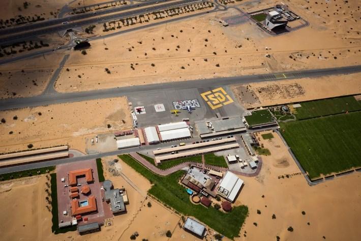 Skydive Dubair Dessert Campus drop zone
