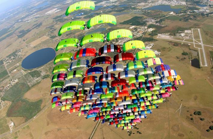 Craziest skydive world record