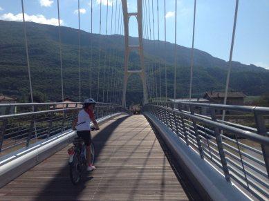 3. Etappe Augustour 2014: Etschbrücke