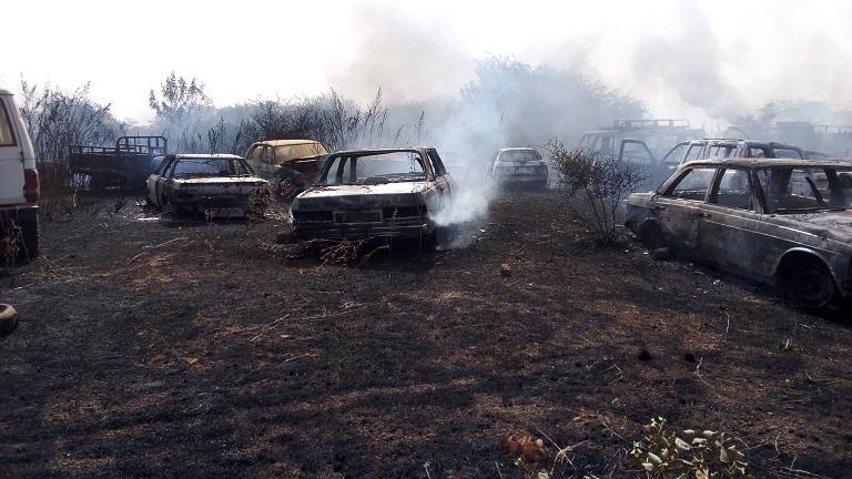 Incendie à la Cour d'appel: 37 véhicules partis en fumée