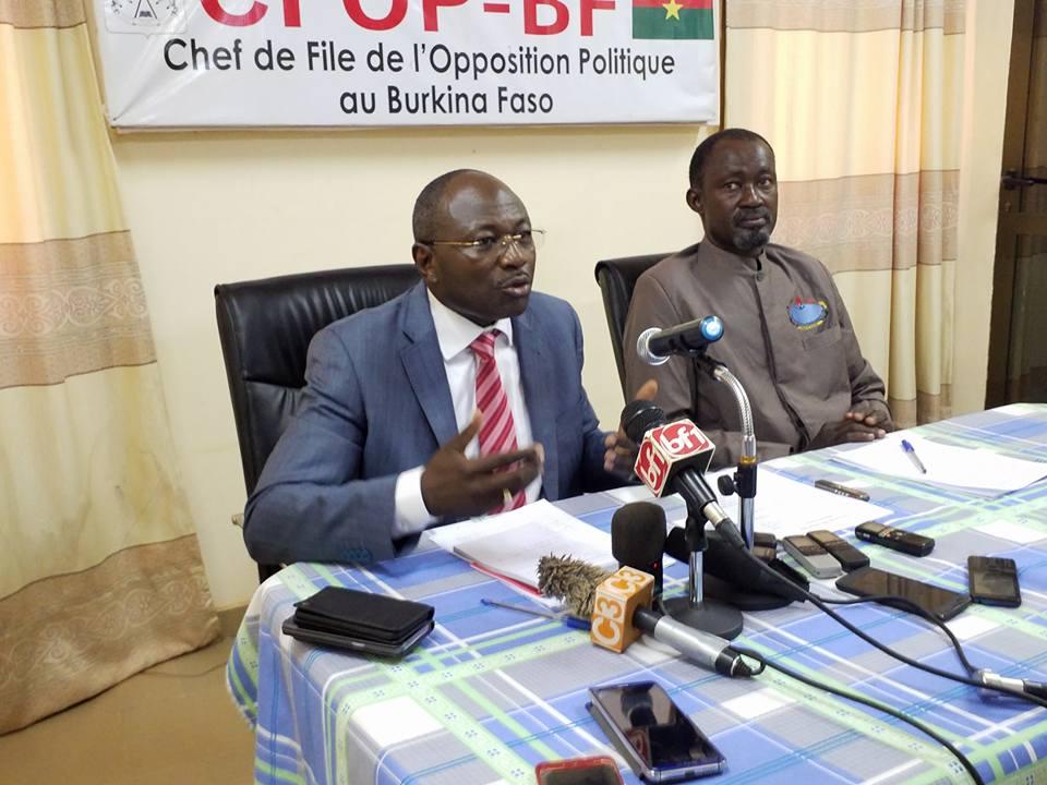 Opposition politique burkinabè :  En désaccord avec la révision de son statut