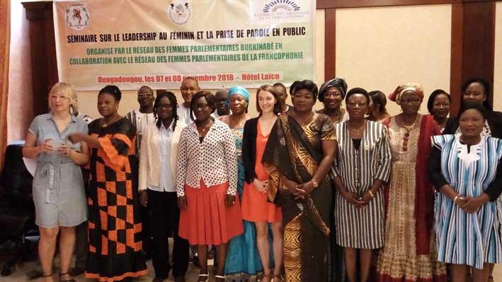 Leadership féminin: Les femmes parlementaires outillées sur la prise de parole en public