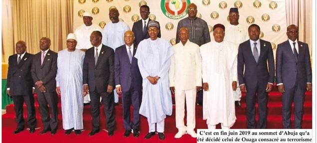 Sommet extraordinaire CEDEAO sur le terrorisme: TD et TP sécuritaires pour 15 dirigeants à Ouagadougou