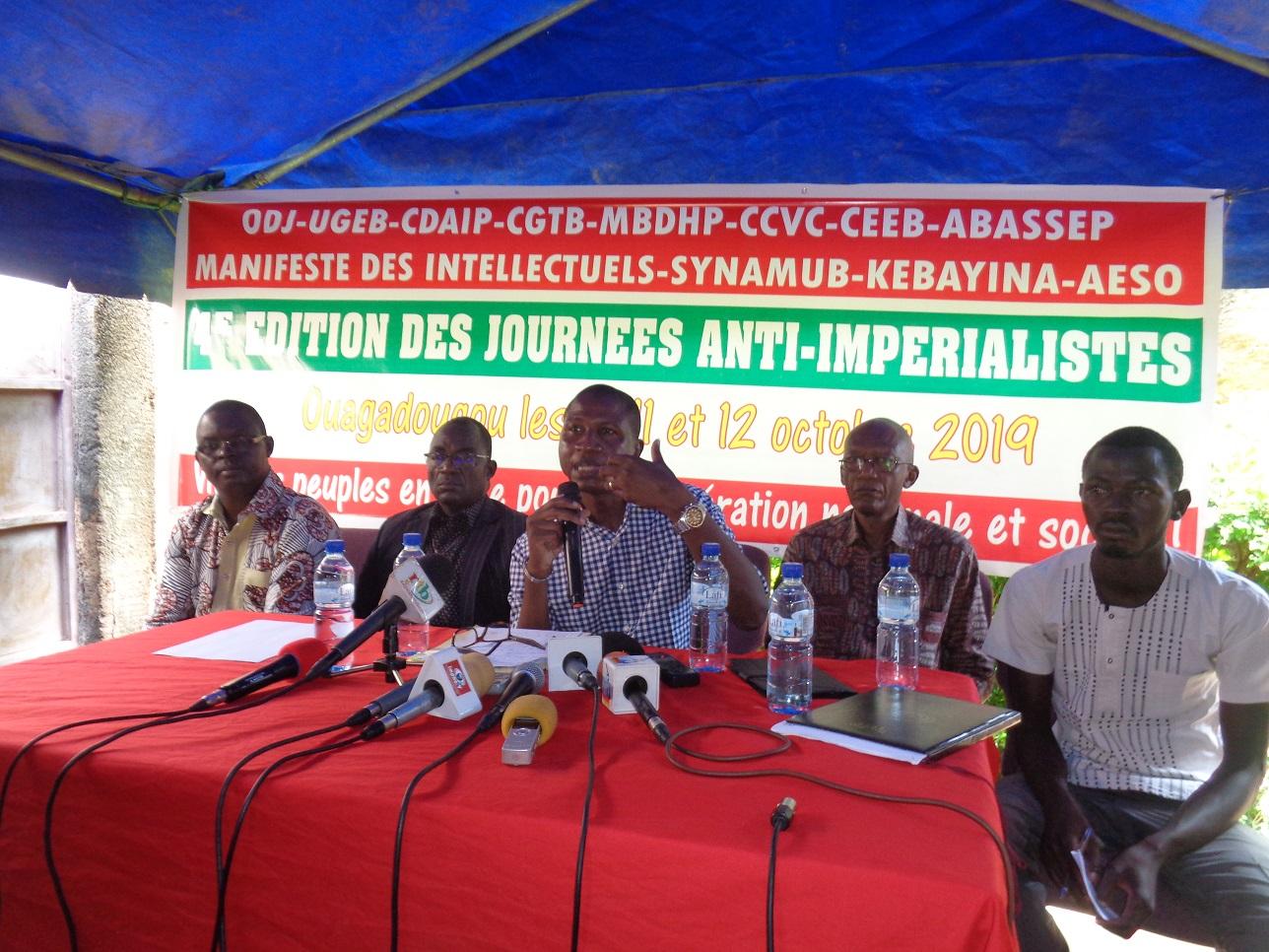 Journées anti-impérialistes: Conscientiser les populations sur la domination du continent