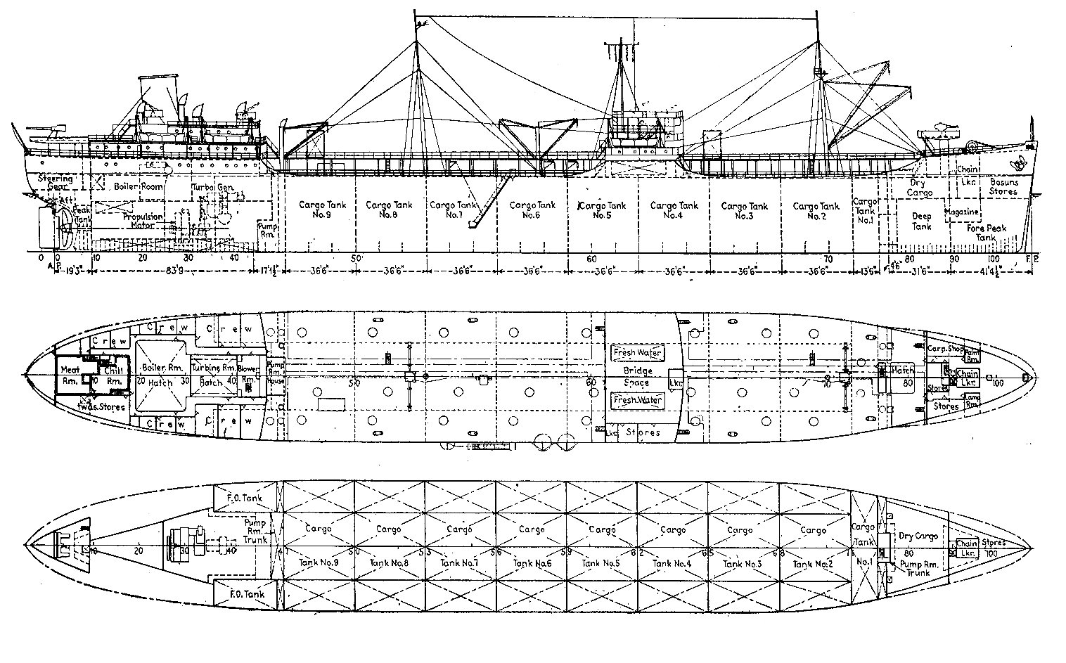General Plan T2 Tanker