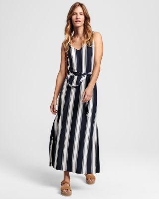 Gant striped maxi dress