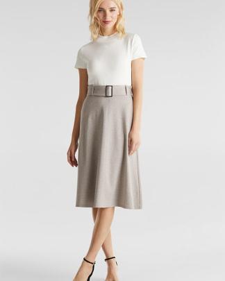 Esprit punto jersey skirt