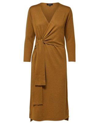 Selected Femme wrap tie dress