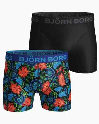 Björn Borg 2-Pack Dramatic Flower Boxers Black