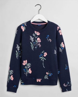 Gant Meadow Print Sweatshirt Navy