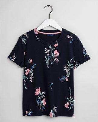 Gant Meadown Print T-shirt Blue