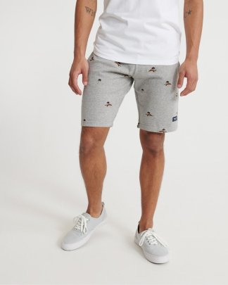 Superdry All Over Print Shorts Grey