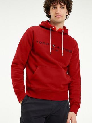 Tommy Jeans Logo Flex Hoody Haute red
