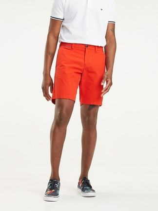 Tommy Hilfiger Signature belt shorts Fiery red