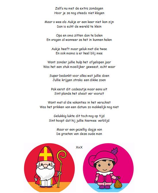 Verrassend Sinterklaasgedichten #2; voor opa en oma en baby   Aukjeswereld SG-84