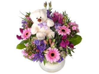 bloemen als kraamcadeau