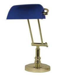 G4059: Noble Old British Bankers Lamp, Banker's Brass ...