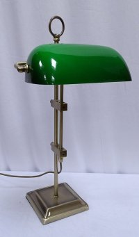 G4063: Exclusive Bankers Lamp, Banker's Antique brass ...