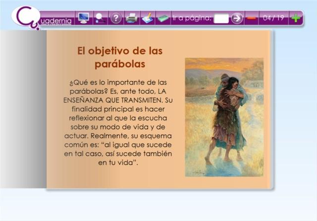 """Cuaderno digital: """"Las parábolas de Jesús"""""""