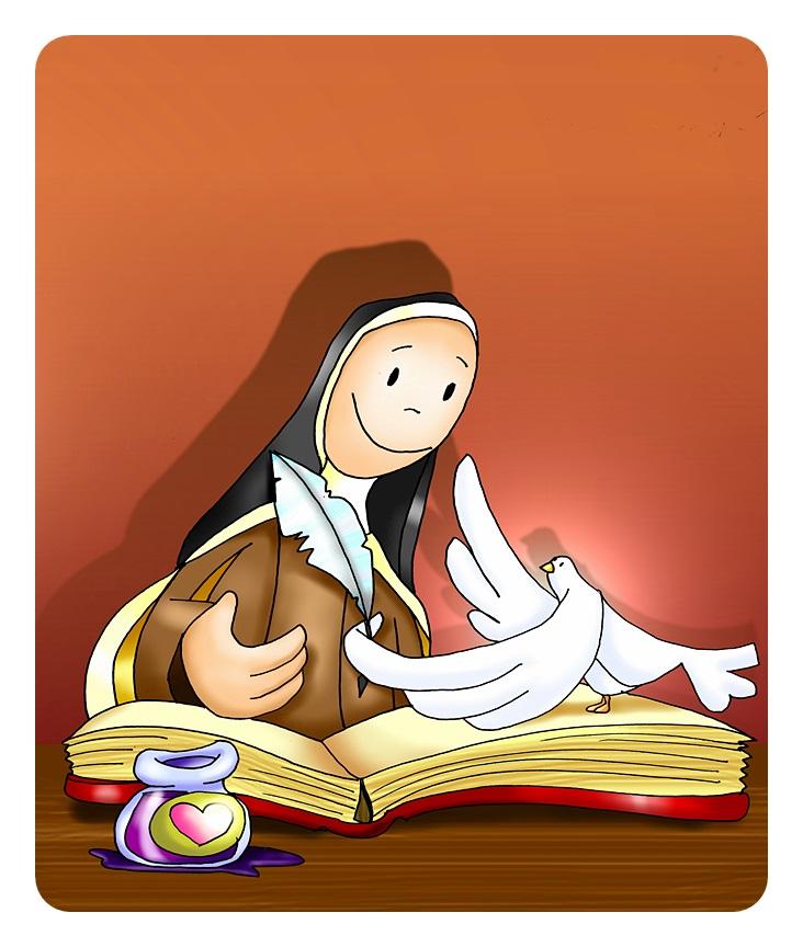 Dibujos sobre Santa Teresa de Ávila para niños