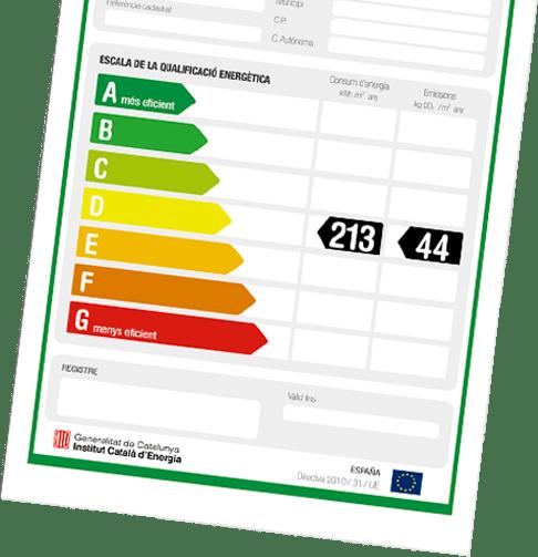 Certificado energético de los edificios
