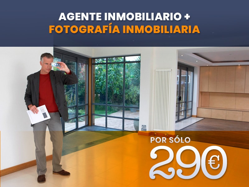 Pack Agente Inmobiliario + Fotografía Inmobiliaria