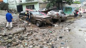 Apoya la CAEM con personal y maquinaria a los municipios afectados por la lluvia de ayer por la tarde 2