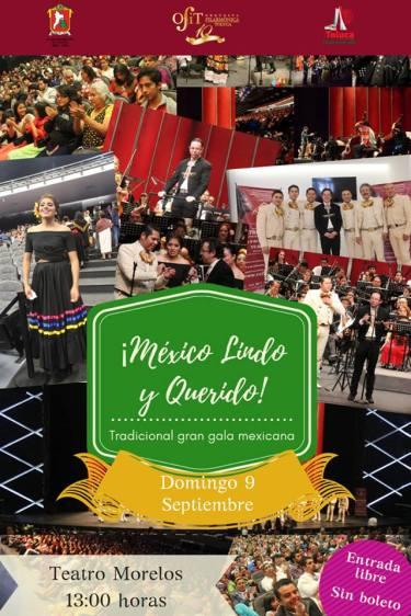 """Invita Toluca a la Tradicional Gran Gala Mexicana de la Ciudad """"México Lindo y Querido"""" (2)"""