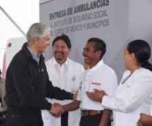 Entrega Alfredo del Mazo nuevas ambulancias al ISSEMYM para brindar mejores servicios de salud a sus derechohabientes 7