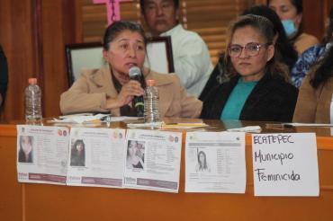 Clama Presidenta de Congreso Edomex alto a los feminicidios; se suman 16 alcaldes a llamado 8