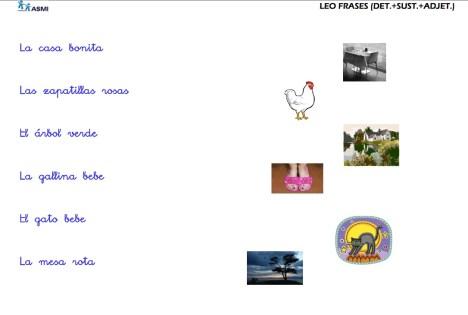 COMPRENSIÓN LECTORA DE FRASES CORTAS ASMI 2