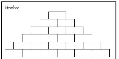 registro pirámide numérica