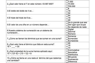 Matematicas 300 Actividades Tipo Test Para Los Ultimos Cursos De Primaria