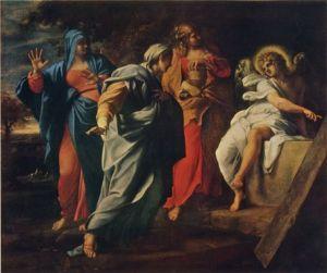 Les saintes femmes au tombeau du Christ (Annibale Carracci 1597)