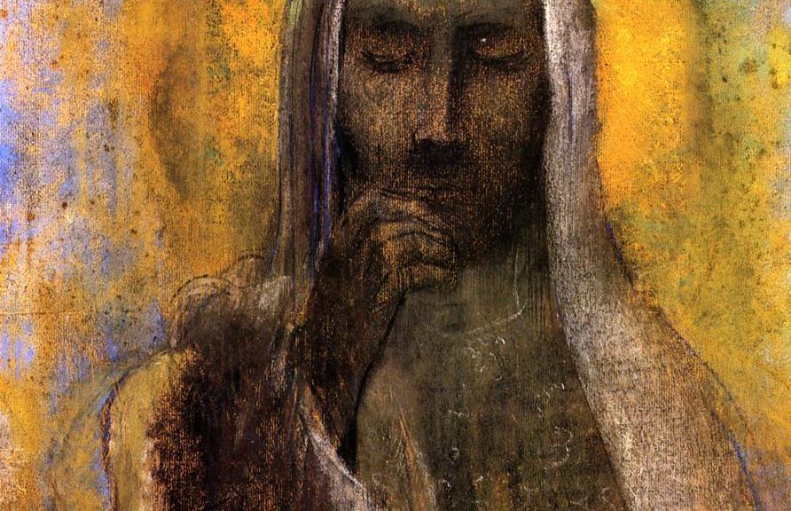Odilon Redon - le christ du silence, 1910