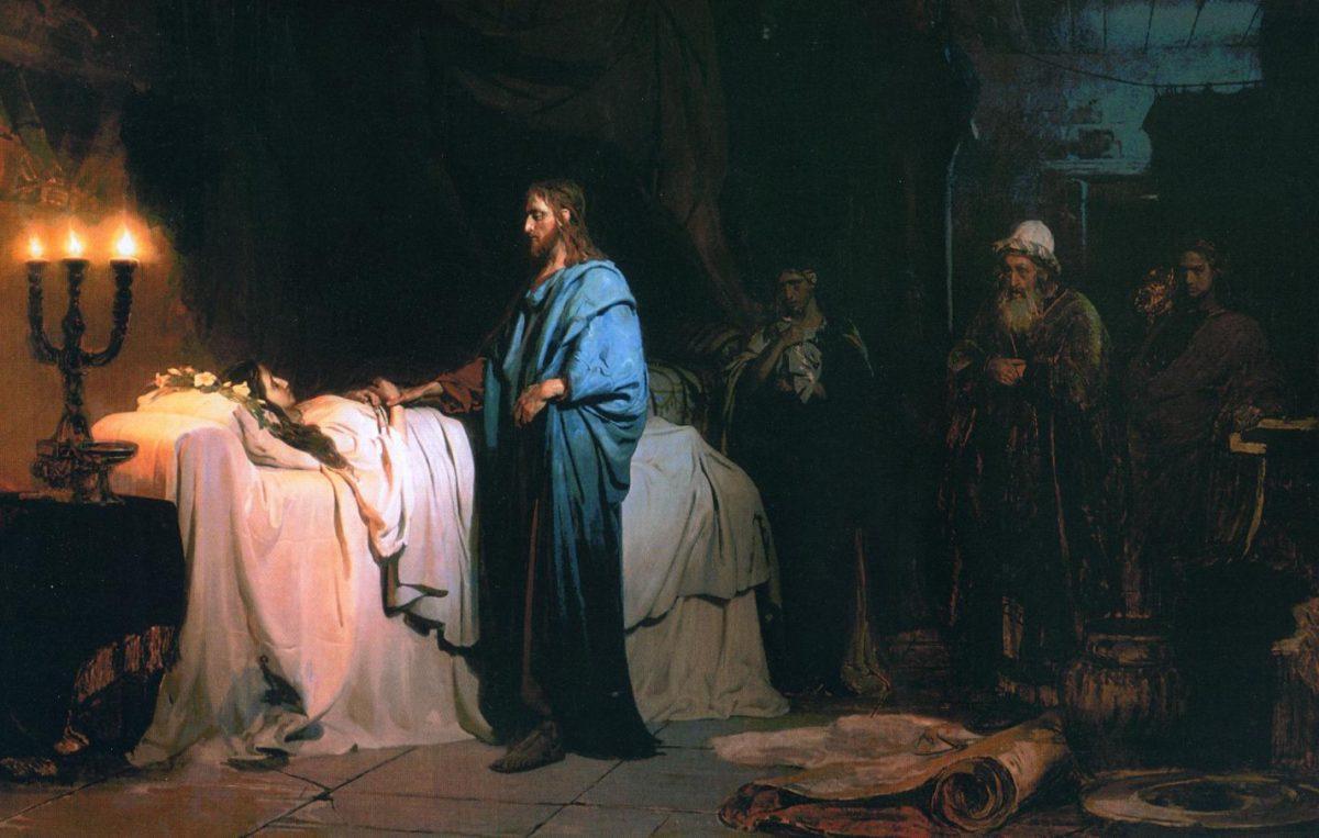 Résurrection de la fille de Jaïre, Ilia Répine, 1900