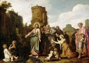 Jésus et la Cananéenne, Pieter Lastman, 1630