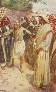 Harold Copping, Jesus Heals Blind Bartimaeus, 1920