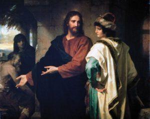 Heinrich Hoffman, Le Christ et le jeune homme riche, 1899