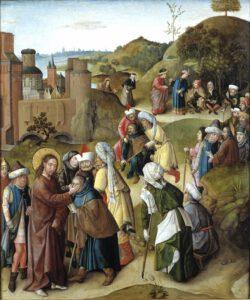 Maitre De La Manne, Guérison de l'aveugle de Jéricho, 1470