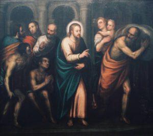 Alessandro Maganza, Jesús en el Templo, 1630