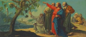 Giovanni Domenico Tiepolos, Jésus maudissant le figuier,1800