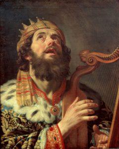 Gerard van Honthorst, le Roi David jouant de la harpe, 1622