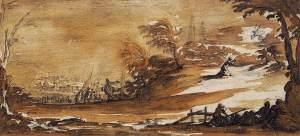 Jacques Callot, L'agonie au jardin, 1625