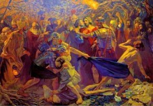 Pavel Popov, Judas trahit Jésus par un baiser, XX°s.
