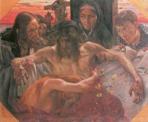 Lovis Corint, Deposition de la croix, 1895